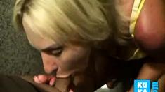 Blonde Slut Wife Swallows In Restraunt Toilet