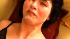 Russian mature suck cock and facial