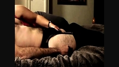 Wife Pleasures Hubby While He Wears Her Lingerie