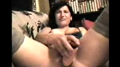 Brunette beauty Mili Jay toying her first milf