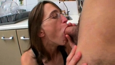 Chloe fucked in the kitchen