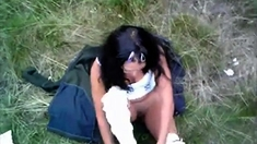 Real Amateur Outdoor Pov Blowjob For A Dude