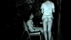 Dirty voyeur spies on slim amateur teen