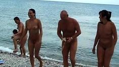 Lora belle beach striptease