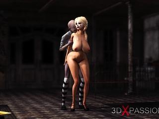 Sexy nahá ebenová dívka