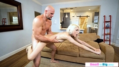 Teen babe sucks on stepdads huge dick